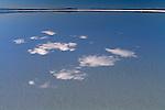 Cloud reflections in salt flat, Salar de Uyuni, Altiplano, Bolivia