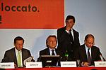 GIANFRANCO FINI, LUCA CORDERO DI MONTEZEMOLO, CARLO CALENDA ED ENRICO LETTA<br /> LANCIO FONDAZIONE ITALIA FUTURA  - PALAZZO COLONNA ROMA 2009