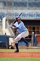 Tampa Bay Rays Carlos Vargas (95) at bat during a Florida Instructional League game against the Baltimore Orioles on October 1, 2018 at the Charlotte Sports Park in Port Charlotte, Florida.  (Mike Janes/Four Seam Images)