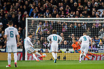 Cristiano Ronaldo of Real Madrid shoots to score during the UEFA Champions League 2017-18 Round of 16 (1st leg) match between Real Madrid vs Paris Saint Germain at Estadio Santiago Bernabeu on February 14 2018 in Madrid, Spain. Photo by Diego Souto / Power Sport Images