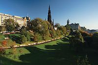 The Scott Monument from Princes Street Gardens, Edinburgh<br /> <br /> Copyright www.scottishhorizons.co.uk/Keith Fergus 2011 All Rights Reserved