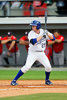 Kevin Kuntz (29) of the Burlington Royals at bat against the Greeneville Astros at Burlington Athletic Park on July 1, 2013 in Burlington, North Carolina.  The Astros defeated the Royals 7-0 in Game One of a doubleheader.  (Brian Westerholt/Four Seam Images)