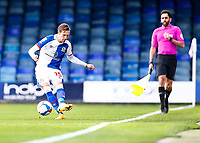 21st November 2020; Kenilworth Road, Luton, Bedfordshire, England; English Football League Championship Football, Luton Town versus Blackburn Rovers; Barry Douglas of Blackburn Rovers passing forward along the wing
