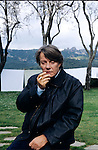 4 febbraio 1997,   L'Agnata, Tempio Pausania, Fabrizio De Andrè fotografato nella sua casa <br /> Fabrizio De Andrè photographied at his home