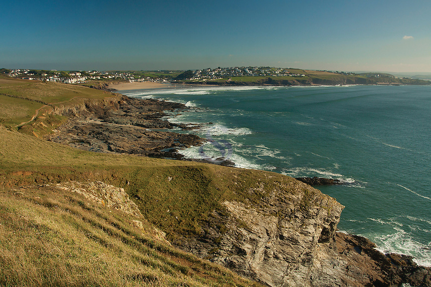 Polzeath and New Polzeath from Pentire Point, Cornwall