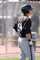 Tyler Massey, Colorado Rockies 2010 minor league spring training..Photo by:  Bill Mitchell/Four Seam Images.