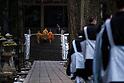 Koyasan, morning tribute for Kobo Daishi