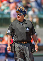 15 March 2016: MLB Umpire Gary Cederstrom works home plate during a Spring Training pre-season game between the Washington Nationals and the Houston Astros at Osceola County Stadium in Kissimmee, Florida. The Nationals defeated the Astros 6-4 in Grapefruit League play. Mandatory Credit: Ed Wolfstein Photo *** RAW (NEF) Image File Available ***
