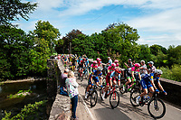 Picture by Alex Whitehead/SWpix.com - 02/09/2018 - Cycling - OVO Energy Tour of Britain - Stage 1: Pembrey Park to Newport, Wales - The peloton in action near Nantgaredig.