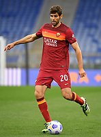 Football, Serie A: AS Roma - Bologna, Olympic stadium, Rome, April 11, 2021. <br /> Rom'a's Federico Fazio in action during the Italian Serie A football match between AS Roma and Bologna at Rome's Olympic stadium, Rome, on April 11, 2021.  <br /> UPDATE IMAGES PRESS/Isabella Bonotto