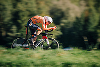 Tom Dumoulin (NED/Sunweb)<br /> <br /> MEN ELITE INDIVIDUAL TIME TRIAL<br /> Hall-Wattens to Innsbruck: 52.5 km<br /> <br /> UCI 2018 Road World Championships<br /> Innsbruck - Tirol / Austria
