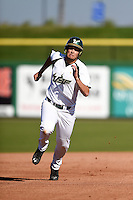 USF Bulls outfielder Daniel Portales (29) runs the bases during a game against the Alabama State Hornets on February 15, 2015 at Bright House Field in Clearwater, Florida.  USF defeated Alabama State 12-4.  (Mike Janes/Four Seam Images)