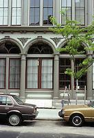 Philadelphia: Smythe Buildings. Cast iron details. Photo '85.