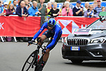 Filippo Ganna (ITA) in action during the Men Elite Individual Time Trial of the UCI World Championships 2019 running 54km from Northallerton to Harrogate, England. 25th September 2019.<br /> Picture: Eoin Clarke | Cyclefile<br /> <br /> All photos usage must carry mandatory copyright credit (© Cyclefile | Eoin Clarke)