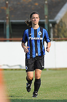 20160827 - AALTER , BELGIUM : Brugge's Barbara Lezy pictured during the soccer match  in the 2nd round of the  Belgian cup 2017 , a soccer women game between Club Brugge and Football Club Bercheux   ,  Aalter , saturday 27 th August 2016 . PHOTO SPORTPIX.BE / DIRK VUYLSTEKE