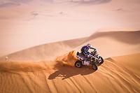 5th January 2021; Dakar Rally stage 3; 152 Giroud Alexandre (fra), Yamaha, Team Giroud, Quad, action during the 3rd stage of the Dakar 2021 between Wadi Al Dawasir and Wadi Al Dawasir, in Saudi Arabia on January 5, 2021