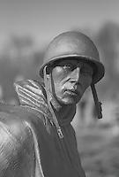 One of the statues in the Korean War Veterans Memorial, Washington, DC