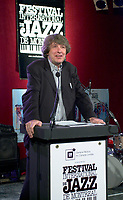 May 6, 2003, Montreal (Qc) Canada<br /> <br /> Sylvain Simard, Spectra, adress the medias at the 2003 Montreal jazz Festival's programation press conference, May 6 2003.<br /> <br /> After success in Pop-Rock and in jazz, Vanelli now tackles classical music<br /> <br /> Photo by Pierre Roussel / Images Distribution<br /> (c) 2003, Pierre Roussel