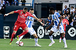 CD Leganes's Dimitrios Siovas and Real Madrid's Karim Benzema during La Liga match between CD Leganes and Real Madrid at Butarque Stadium in Leganes, Spain. April 15, 2019. (ALTERPHOTOS/A. Perez Meca)