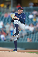 Toledo Mud Hens starting pitcher Kyle Funkhouser (36) in action against the Charlotte Knights at BB&T BallPark on April 24, 2019 in Charlotte, North Carolina. The Knights defeated the Mud Hens 9-6. (Brian Westerholt/Four Seam Images)