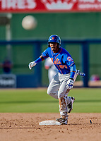 7 March 2019: New York Mets outfielder Anthony Dirocie in action during a Spring Training Game against the Washington Nationals at the Ballpark of the Palm Beaches in West Palm Beach, Florida. The Nationals defeated the visiting Mets 6-4 in Grapefruit League, pre-season play. Mandatory Credit: Ed Wolfstein Photo *** RAW (NEF) Image File Available ***