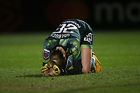 Despair for Ellie Roebuck of Manchester City after she concedes the second Arsenal goal from Danielle van de Donk during Arsenal Women vs Manchester City Women, FA Women's Continental League Cup Football at Meadow Park on 29th January 2020