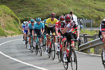 UAE Team Emirates on the front of the peloton with Polka Dot Jersey Tadej Pogacar (SLO) and race leader Yellow Jersey Brandon McNulty (USA) UAE Team Emirates during Stage 5 of the Itzulia Basque Country 2021, running 160.2km from Hondarribia to Ondarroa, Spain. 9th April 2021.  <br /> Picture: Luis Angel Gomez/Photogomezsport | Cyclefile<br /> <br /> All photos usage must carry mandatory copyright credit (© Cyclefile | Luis Angel Gomez/Photogomezsport)