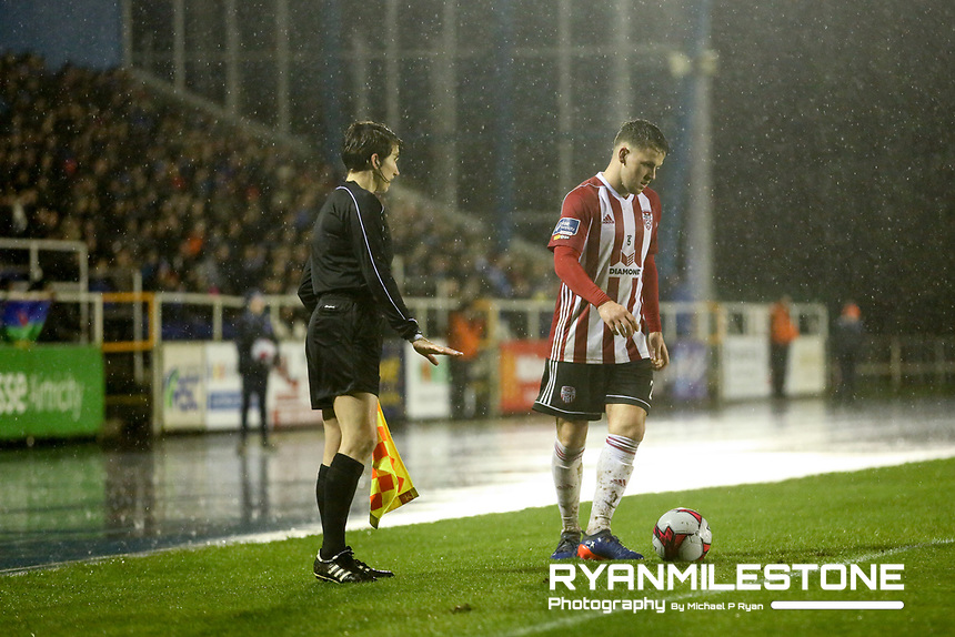 General view of the SSE Airtricity League Premier <br /> Division game between Waterford FC and Derry City on Friday 16th February 2018 at the RSC Waterford. Photo By: Michael P Ryan