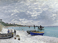 Claude Monet - The Beach at Sainte-Adresse (1867). Chicago, The Art Institute of Chicago.