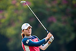 Min-Jeong Ko of Korea in action during the Hyundai China Ladies Open 2014 practice day on December 11 2014 at Mission Hills Shenzhen, in Shenzhen, China. Photo by Xaume Olleros / Power Sport Images
