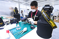 19th July 2021, TOKYO, JAPAN: Nikon NPS Photo Service Centre operates cameras and lens depot for accredited photographers in the  Main Press Centre MPC located at the West Halls of the Tokyo Big Sight complex (Japan's largest international exhibition centre)