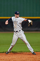 Connecticut Huskies second baseman Tom Verdi #12 during a game against the Purdue Boilermakers at the Big Ten/Big East Challenge at Walter Fuller Complex on February 18, 2012 in St. Petersburg, Florida.  (Mike Janes/Four Seam Images)