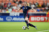 HOUSTON, TX - JUNE 13: Samantha Mewis #3 of the United States turns and moves with the ball during a game between Jamaica and USWNT at BBVA Stadium on June 13, 2021 in Houston, Texas.