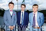Fergal Murphy (Muckross), James Knoblauch (Clonkeen. Killarney) and Shane Daly (Killarney) attending the Killarney Community College, St. Brendan's and St. Bridget's School debs in the Ballyroe Heights Hotel on Monday night