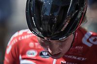 Post finishing the Mur de Huy.<br /> <br /> 21st La Flèche Wallonne Femmes <br /> 1 day race: Huy - Huy (118,5KM)