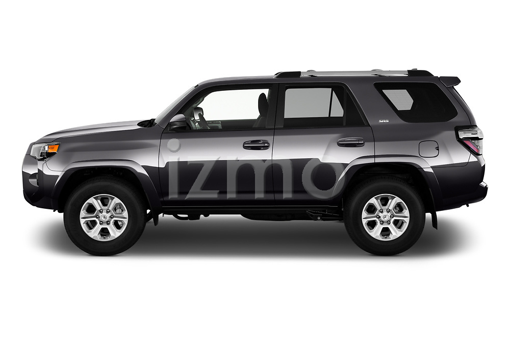 Car Driver side profile view of a 2020 Toyota 4-Runner SR5 5 Door SUV Side View