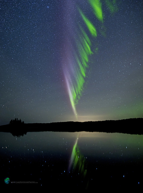 "Isle Royale ""Steve"" aurora portrait northern lights"