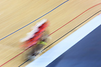 05 DEC 2014 - STRATFORD, LONDON, GBR - The team from the USA (USA) race around the track during qualifying for the Women's Team Pursuit at the 2014 UCI Track Cycling World Cup at the Lee Valley Velo Park in Stratford, London, Great Britain (PHOTO COPYRIGHT © 2014 NIGEL FARROW, ALL RIGHTS RESERVED)