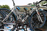 Nicolas Roche's (IRL) AG2R La Mondiale spare bike on the team car at sign on before the start of Stage 17 of the 2010 Tour de France at Palais Beaumont running 174km from Pau to Col du Tourmalet, France. 22nd July 2010.<br /> (Photo by Eoin Clarke/NEWSFILE).<br /> All photos usage must carry mandatory copyright credit (© NEWSFILE | Eoin Clarke)