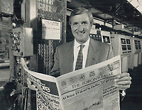 1988 FILE PHOTO - ARCHIVES -<br /> <br /> 1988 FILE -<br /> <br /> Toronto Star President David Jolley<br /> <br /> PHOTO : Bull, Ron<br /> <br /> PHOTO : Ron BULL - Toronto Star Archives - AQP