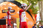 Guillaume Martin (FRA) Cofidis at sign on before the start of Stage 6 of La Vuelta d'Espana 2021, running 158.3km from Requena to Alto de la Montaña Cullera, Spain. 19th August 2021.    <br /> Picture: Luis Angel Gomez/Photogomezsport   Cyclefile<br /> <br /> All photos usage must carry mandatory copyright credit (© Cyclefile   Luis Angel Gomez/Photogomezsport)