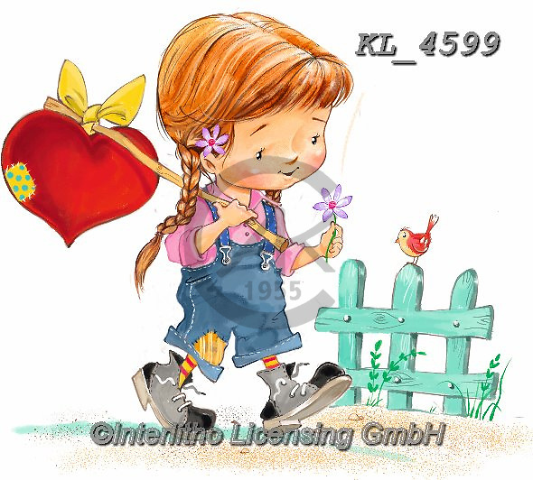 Interlitho-Fabrizio, Comics, VALENTINE, VALENTIN, paintings+++++,girl, heart,KL4599,#v#, EVERYDAY ,sticker,stickers