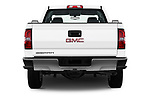 Straight rear view of a 2018 GMC Sierra 3500HD Double 4WD Cab Long Box 4 Door Pick Up stock images