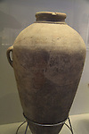 Israel, Jerusalem, a storage jar from Tel Shiloh, 11th century BC, at the Israel Museum