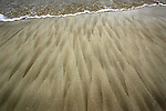 Sand designs of the beach at on Kailua Beach, Hawaii.