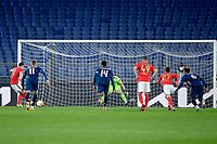 18th February 2021, Rome, Italy;   Afonso Fernandes of SL Benfica scoring their penalty kick goal in the 55th minute for 1-0 during the UEFA Europa League round of 32 Leg 1 match between SL Benfica and Arsenal at Stadio Olimpico, Rome, Italy on 18 February 2021.