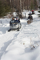 Officials & Authorities On Snowmobiles Clear Trail Iditarod Ceremonial Start 2005 near Campbell Airstrip AK Winter