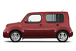 Passenger side profile view of a 2009 Nissan Cube SL.