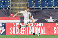 FOXBOROUGH, MA - SEPTEMBER 1: Charlie Dennis #10 of FC Tucson passes the ball during a game between FC Tucson and New England Revolution II at Gillette Stadium on September 1, 2021 in Foxborough, Massachusetts.