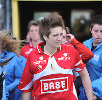 1/2 Halve finale Beker van Belgie ; Waasland Beveren Sinaai Girls - Standard Femina de Liege : Maud Coutereels..foto DAVID CATRY / Vrouwenteam.be